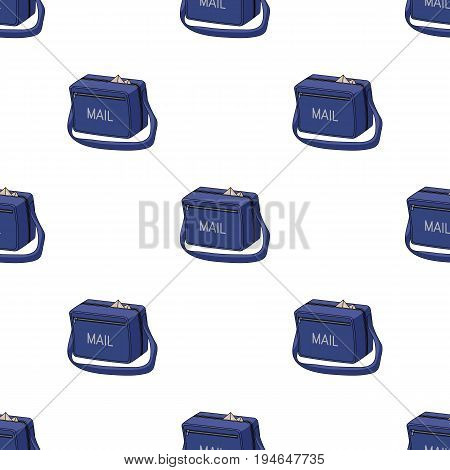 Postal bag.Mail and postman pattern icon in cartoon style vector symbol stock illustration .