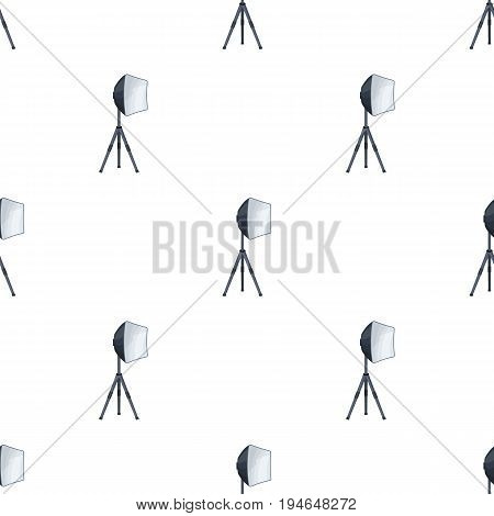 Lighting device on a tripod.Making movie single icon in cartoon style vector symbol stock illustration .