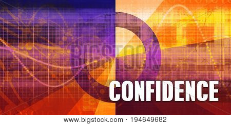 Confidence Focus Concept on a Futuristic Abstract Background 3D Render