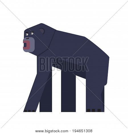 Isolated abstract gorilla on a white background, Vector illustration