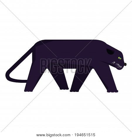 Isolated abstract panther on a white background, Vector illustration