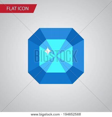 Isolated Diamond Flat Icon. Brilliant Vector Element Can Be Used For Diamond, Brilliant, Gem Design Concept.