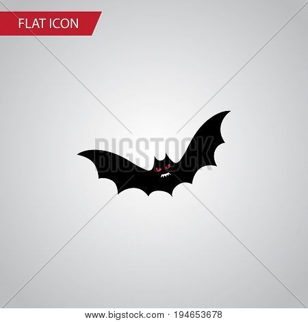 Isolated Bat Flat Icon. Superstition Vector Element Can Be Used For Superstition, Bat, Creepy Design Concept.