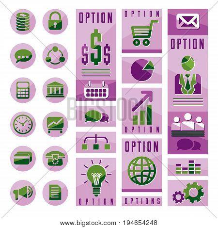 Flat infographics elements set of different design elements for visual presentation usage vector illustration.