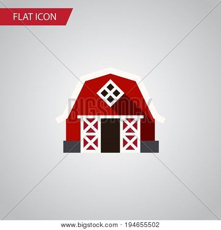 Isolated Barn Flat Icon. Farmhouse Vector Element Can Be Used For Farmhouse, Ranch, Barn Design Concept.