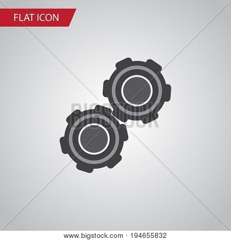 Isolated Pulley Flat Icon. Belt Vector Element Can Be Used For Pulley, Car, Belt Design Concept.