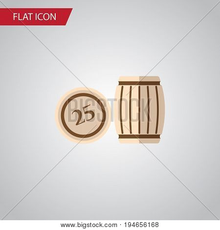 Isolated Lotto Flat Icon. Lottery Vector Element Can Be Used For Lottery, Lotto, Bingo Design Concept.
