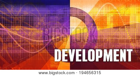 Development Focus Concept on a Futuristic Abstract Background