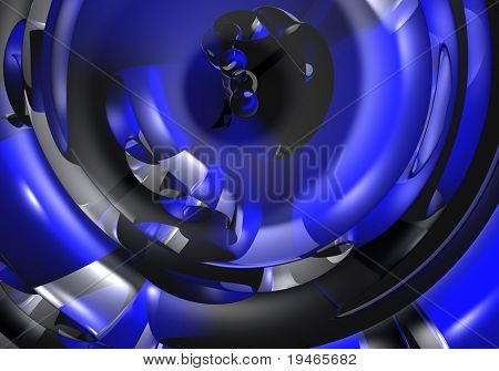 blue tube (abstract)