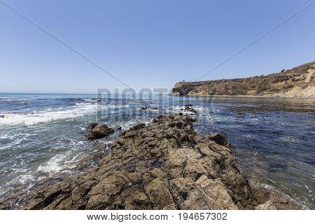 Sacred Cove tidal pool at Abalone Cove Shoreline Park in Southern California.