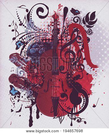 Vintage Violin Music Background