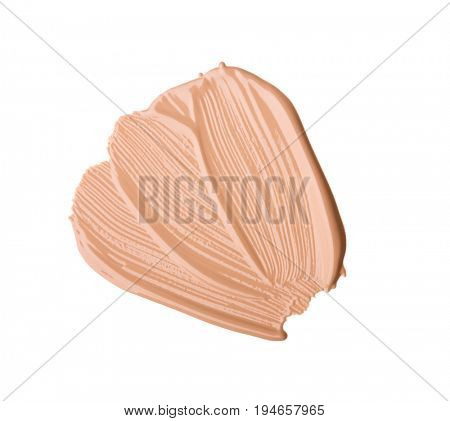 Cosmetic liquid foundation. Isolated on white background