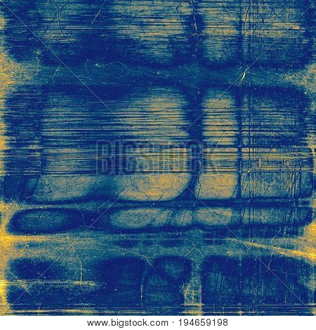 Grunge background with vintage style graphic elements, retro feeling composition and different color patterns: yellow (beige); blue; cyan