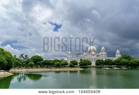 June 29, 2017.The Victoria Memorial is a large marble building in Kolkata, West Bengal, India, which was built between 1906 and 1921.