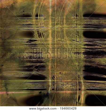 Vintage texture or antique background with grunge decorative elements and different color patterns: yellow (beige); brown; gray; green; black
