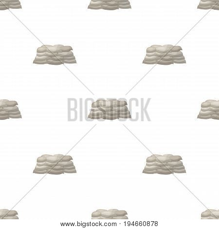 Barricade of bags of sand.Paintball single icon in cartoon style vector symbol stock illustration .