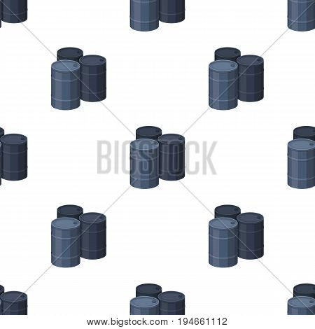 Barricade of empty barrels.Paintball single icon in cartoon style vector symbol stock illustration .