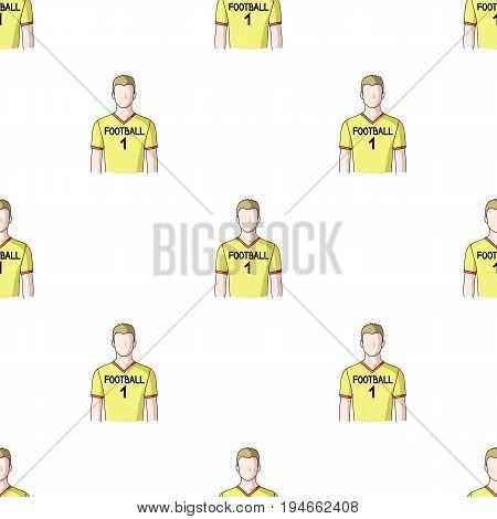 Footballer.Professions single icon in cartoon style vector symbol stock illustration .