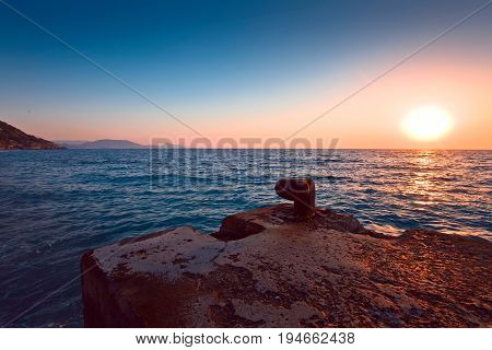 Sunset On The Mediterranean Sea