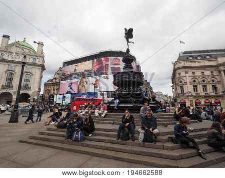 People In Piccadilly Circus In London