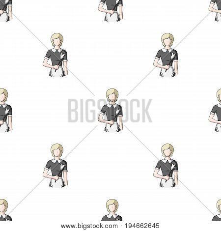 Maid.Professions single icon in cartoon style vector symbol stock illustration .