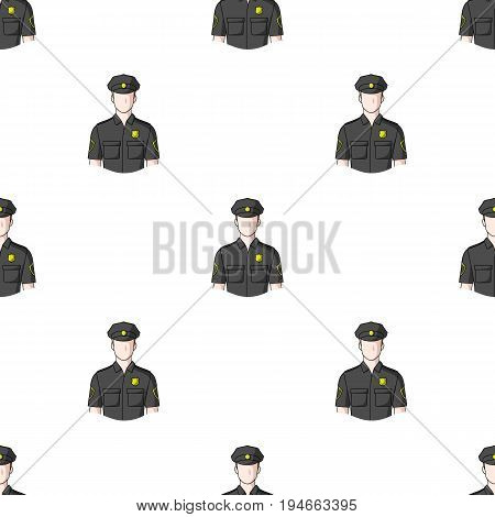 Policeman.Professions single icon in cartoon style vector symbol stock illustration .