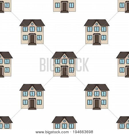 Private cottage.Realtor single icon in cartoon style vector symbol stock illustration .