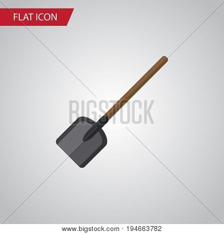 Isolated Spade Flat Icon. Shovel Vector Element Can Be Used For Shovel, Spade, Tool Design Concept.