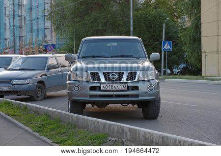 SARANSK, RUSSIA - JUNE 29, 2017: Nissan Patrol V parked on city street.