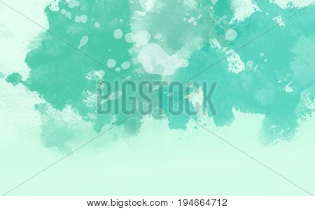 Abstract water color green with soft background.