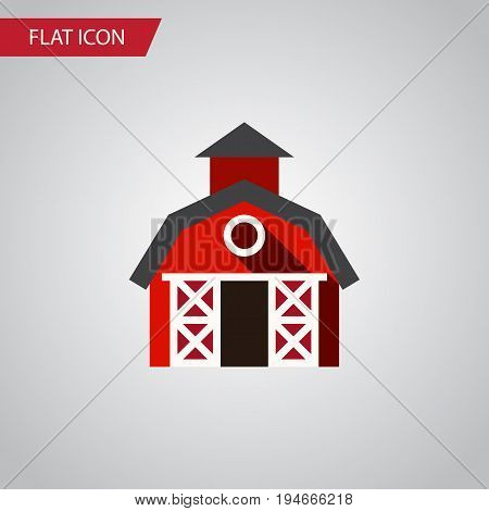 Isolated Farmhouse Flat Icon. Barn Vector Element Can Be Used For Farmhouse, Ranch, Barn Design Concept.