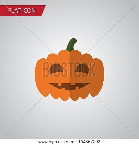 Isolated Pumpkin Flat Icon. Gourd Vector Element Can Be Used For Pumpkin, Gourd, Halloween Design Concept.