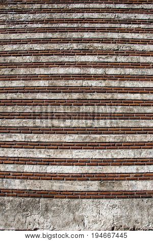 Wall Made Of The Same Type Of Stones