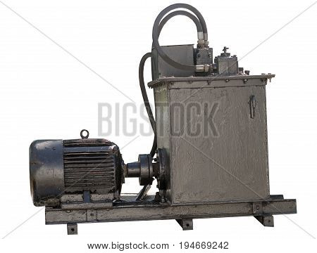 powerful pressure pipes system on white background