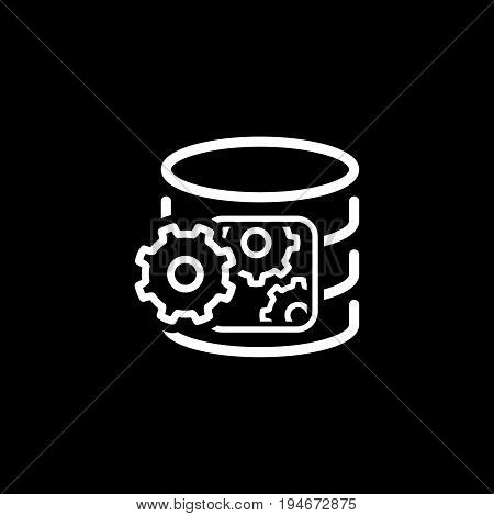 Data Processing Icon. Flat Design. Business Concept. Isolated Illustration