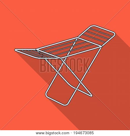 Drying for clean linen. Dry cleaning single icon in flat style vector symbol stock illustration .