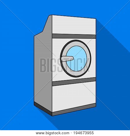Industrial washing machine. Dry cleaning single icon in flat style vector symbol stock illustration .