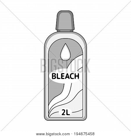 Bottle of bleach. Dry cleaning single icon in outline style vector symbol stock illustration .