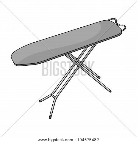 Ironing board. Dry cleaning single icon in outline style vector symbol stock illustration .