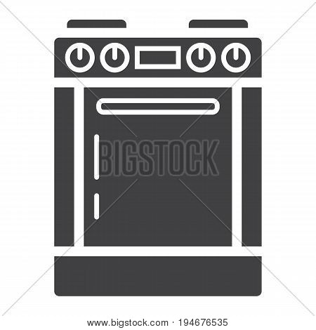 Gas stove solid icon, kitchen and appliance, electric range vector graphics, a glyph pattern on a white background, eps 10.