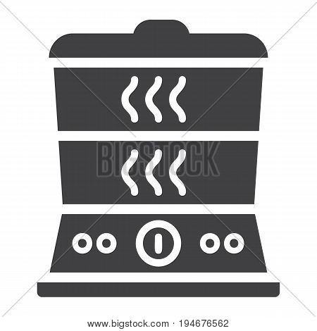 Food Steamer solid icon, kitchen and appliance, vector graphics, a glyph pattern on a white background, eps 10.
