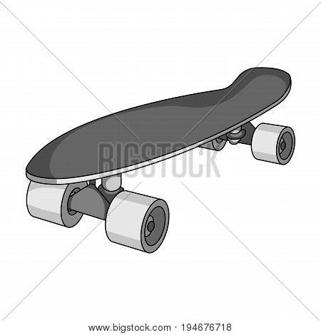 Skateboard.Extreme sport single icon in monochrome style vector symbol stock illustration .