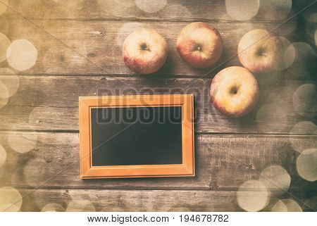 Photo Frame And Apples
