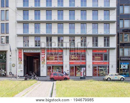 BERLIN GERMANY - JULY 9 2017: Entrance of The Dali Exhibition At Potsdamer Platz In Berlin