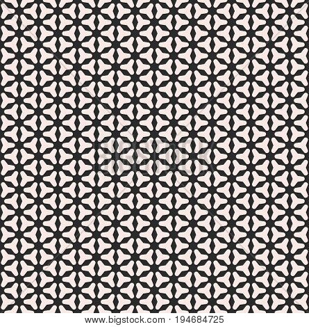 Seamless pattern. Vector monochrome texture, smooth geometric triangles, small shapes, regular grid. Black & white background. Design pattern, textile pattern, covers pattern, package pattern, decor pattern, fabric pattern.