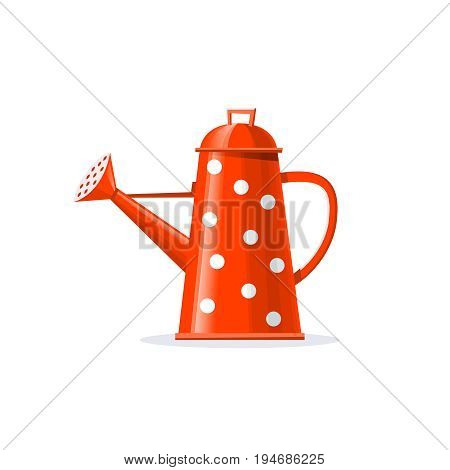 Watering can. Garden tools. Agriculture and gardening. Vector illustration.