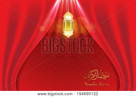 ramadan backgrounds vectorArabic Islamic calligraphy of Ramadan kareem on red curtian background.