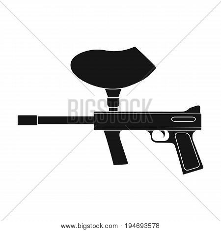 Marker for paintball.Extreme sport single icon in black style vector symbol stock illustration .