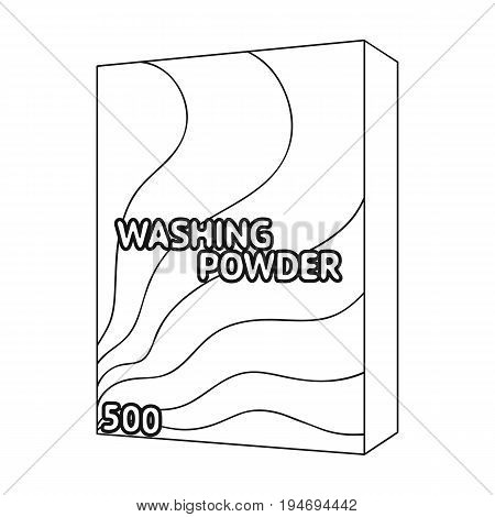 Washing powder. Dry cleaning single icon in black style vector symbol stock illustration .