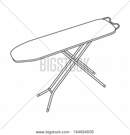 Ironing board. Dry cleaning single icon in black style vector symbol stock illustration .